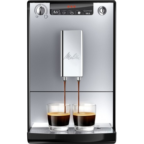 Melitta E950-103 Caffeo Solo Fully Automatic Bean-To-Cup with Pre-Brew Function - Silver and Black