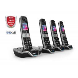 BT 8600 Advanced Call Blocker Quad Digital Cordless Phones + Answer Machine