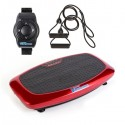 Vibrapower Slim 2 Vibration Plate with Remote Watch + Resistance Bands - Red RRP 199