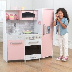 KIDKRAFT Large Wooden Play Kitchen in Pink (3+ Years)