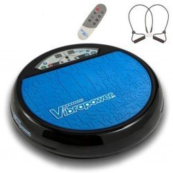 Vibrapower Disc 2 Vibration Plate Exerciser/Toner, Remote, Resistance Bands, DVD