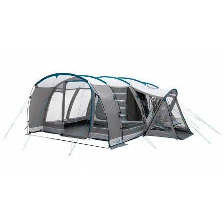 Easy Camp Palmdale 600A 6 Person Tunnel tent With Awning - Silver/Grey - RRP £479.00