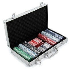 300 Piece Pro Poker Set 11.5g Chips in Aluminium Carry Case