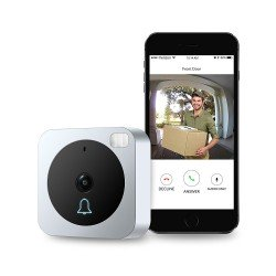 VueBell WiFi Video Doorbell 2-Way Audio, IR Motion Sensor Night Vision Chime