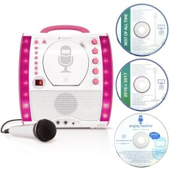 Singing Machine SML343 Karaoke With Bluetooth & CD Player - Pink - RRP £89