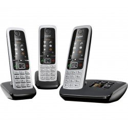 Gigaset C430A Trio Cordless Phone With Answer Machine - 3 Handsets